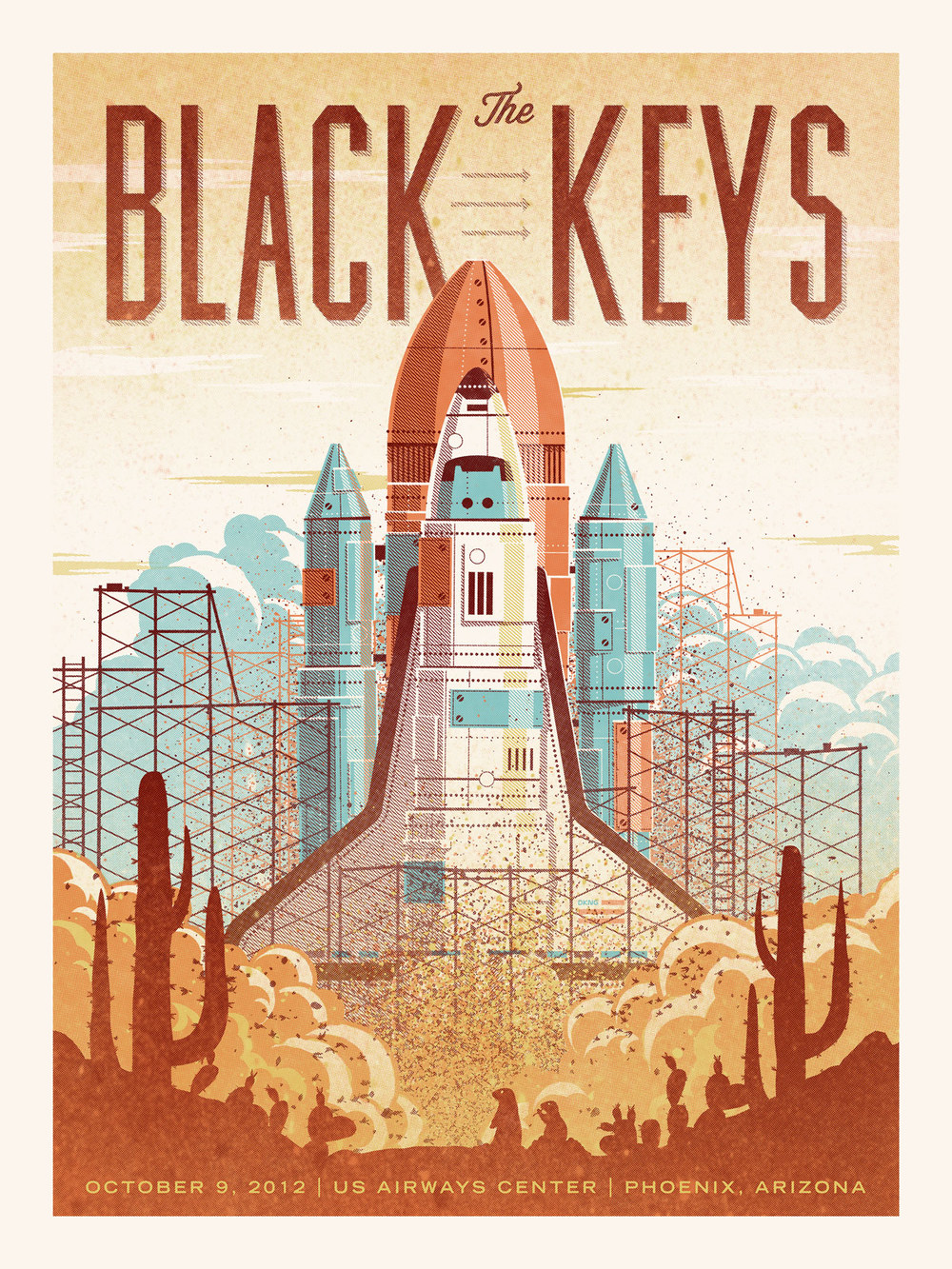 The Black Keys Gig Poster by DKNG
