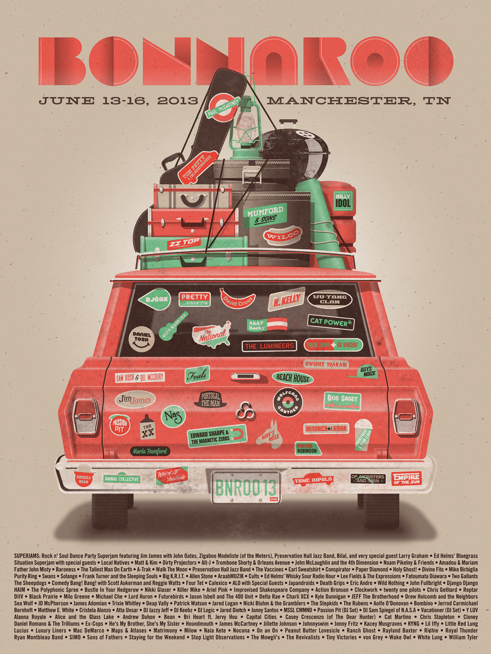 Bonnaroo Poster by DKNG