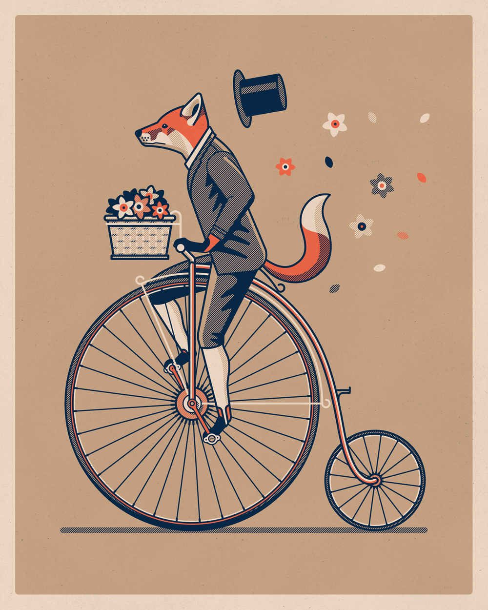Penny Farthing Art Print by DKNG