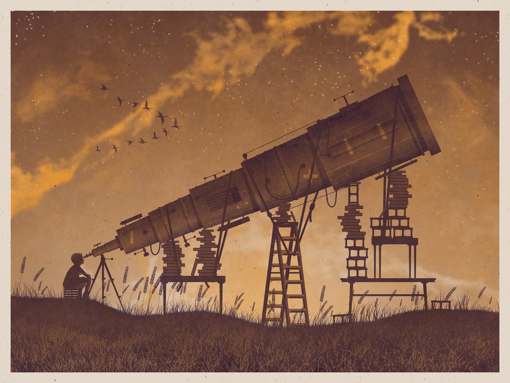 Telescope Art Print by DKNG