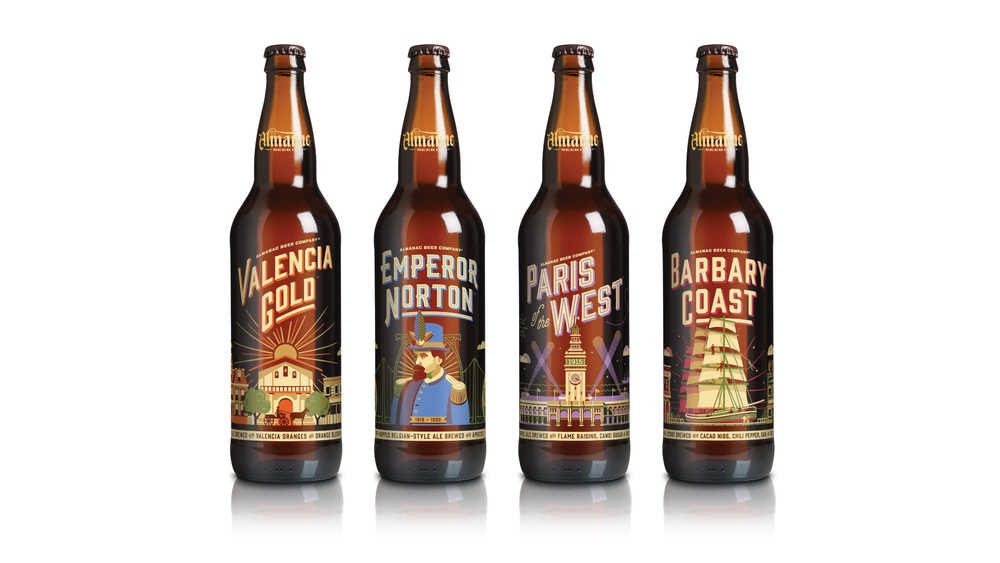 Almanac Beer Co. Seasonal Bottle Design by DKNG