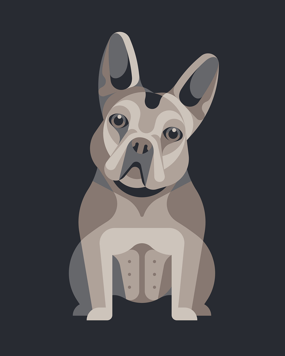 French Bulldog Illustration by DKNG