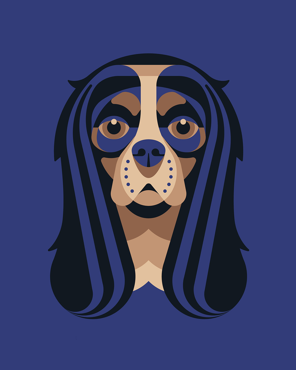 King Charles Cavalier Illustration by DKNG