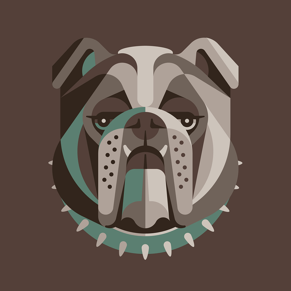 English Bulldog Illustration by DKNG