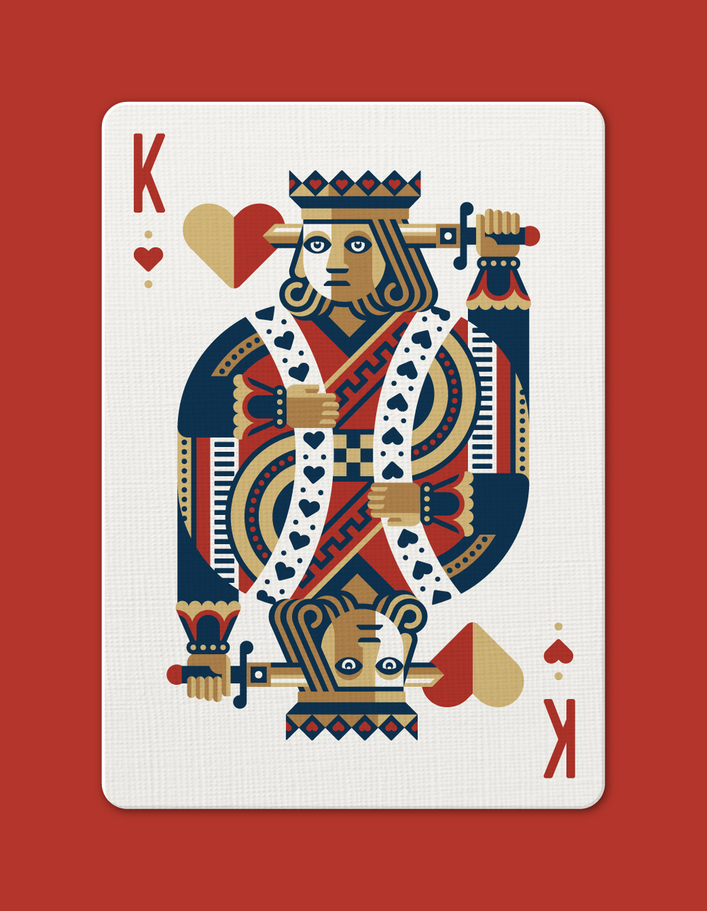 DKNG 'Red Wheel' Playing Cards