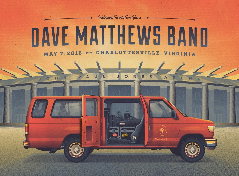 Dave matthews band charlottesville poster u2014 dkng