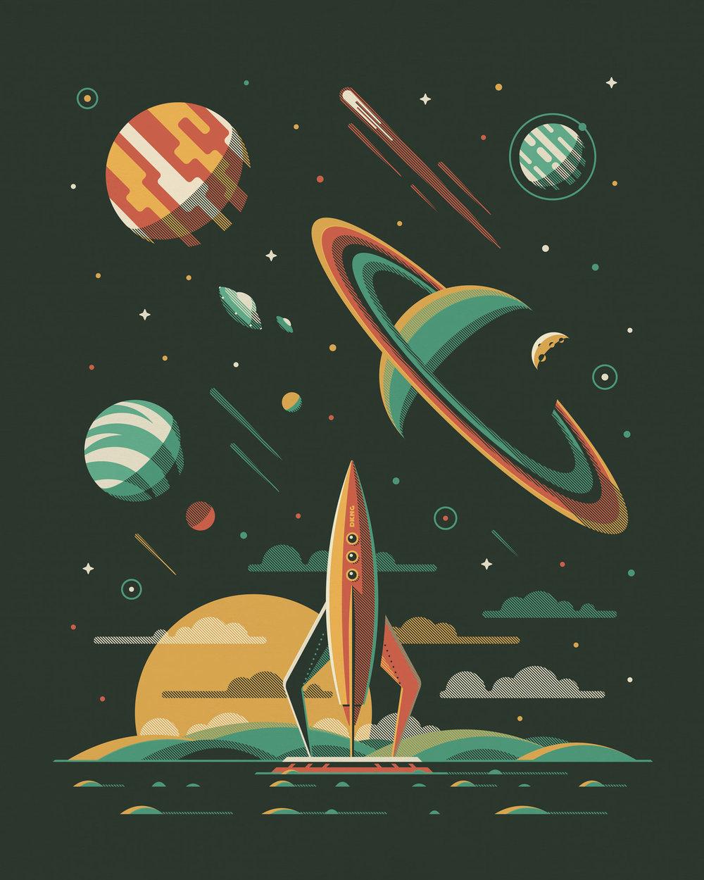 Aquarius art print by DKNG