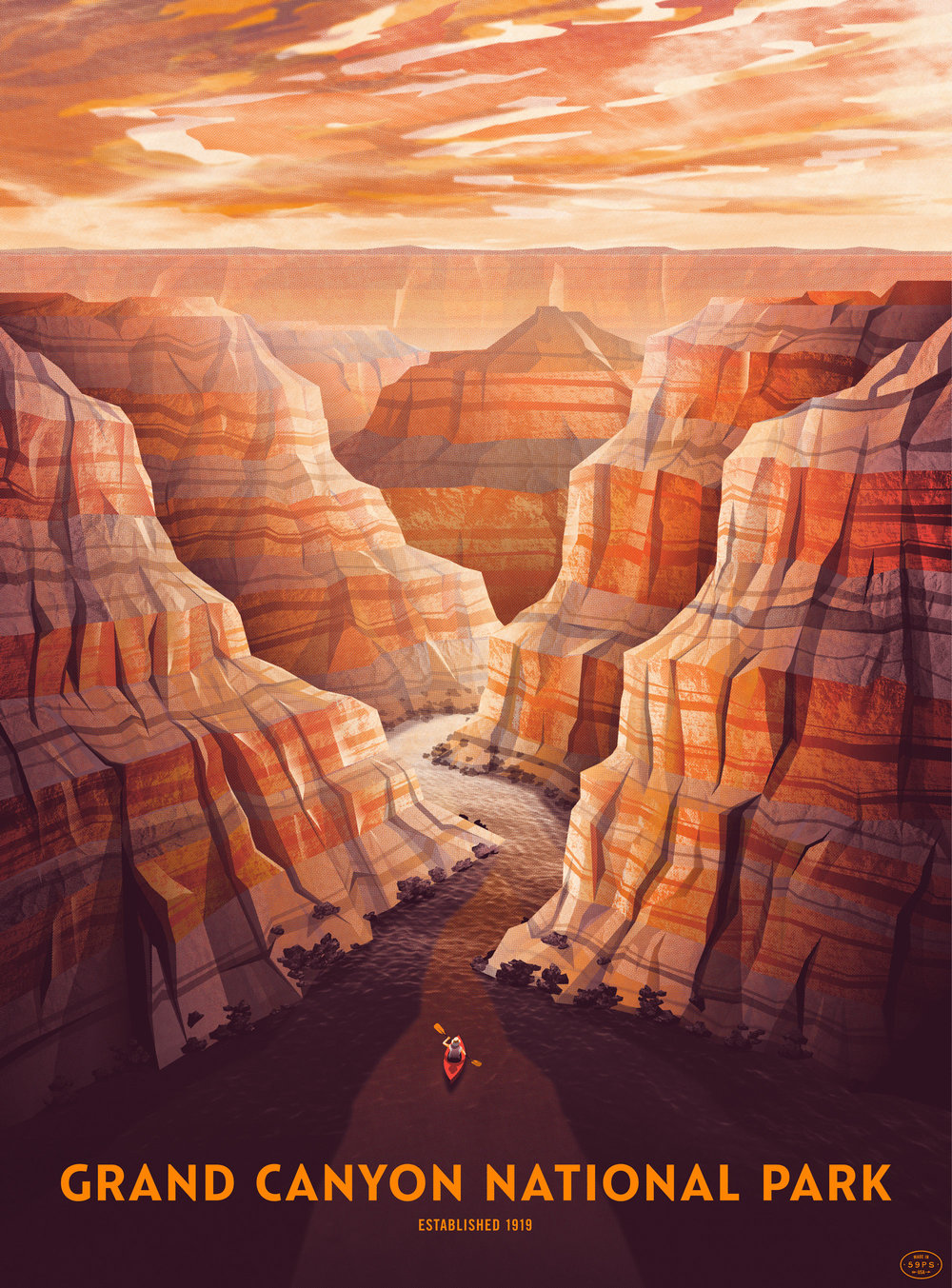 Grand Canyon National Park Poster Dkng