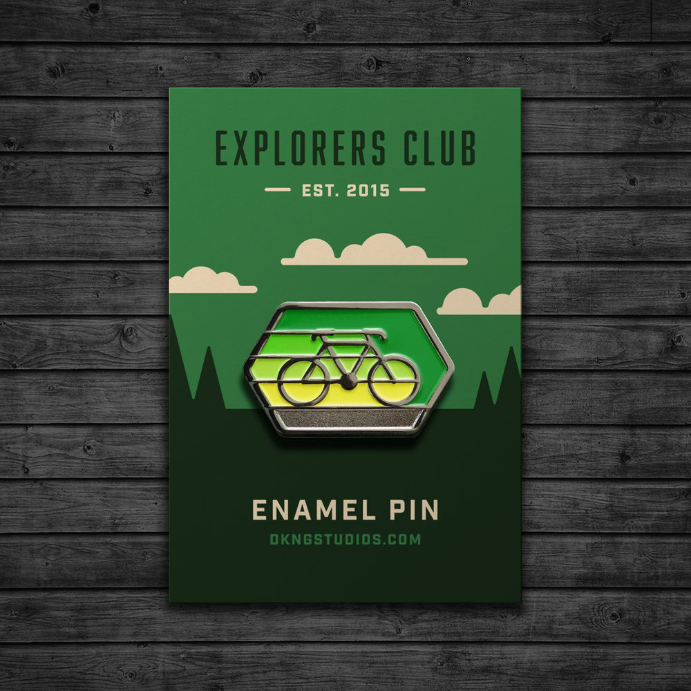Explorers Club: Cyclist Enamel Pin by DKNG