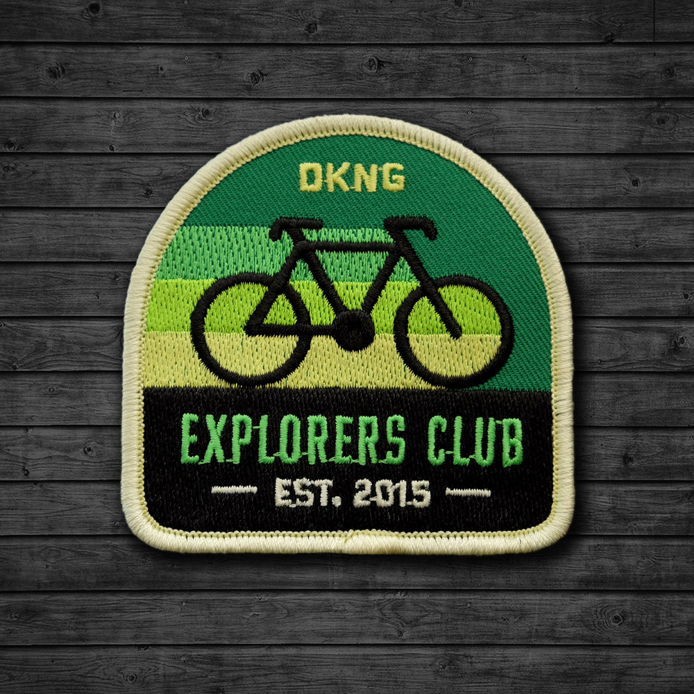 Explorers Club: Cyclist Embroidered Patch by DKNG
