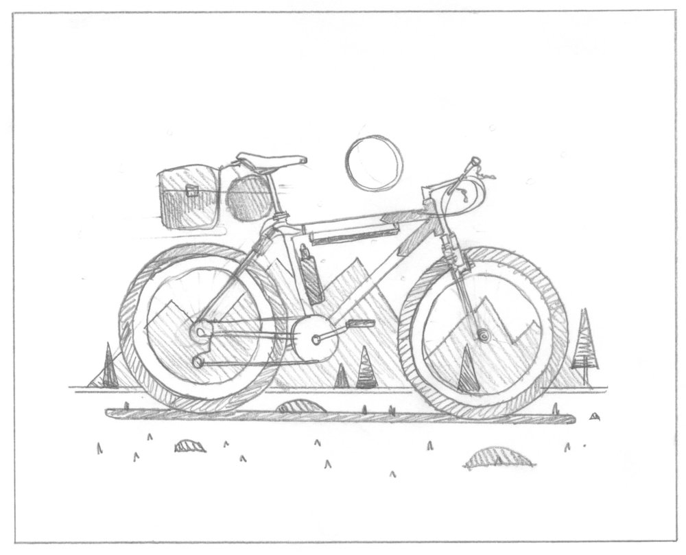 Explorers Club: Cyclist Sketch by DKNG