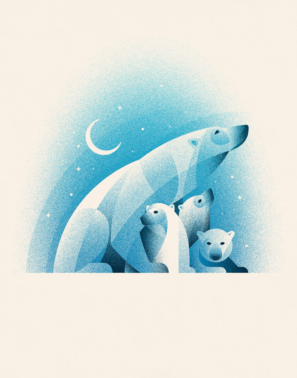 Polar Bears   A Timed Edition Art Print Benefiting NRDC   LEARN MORE