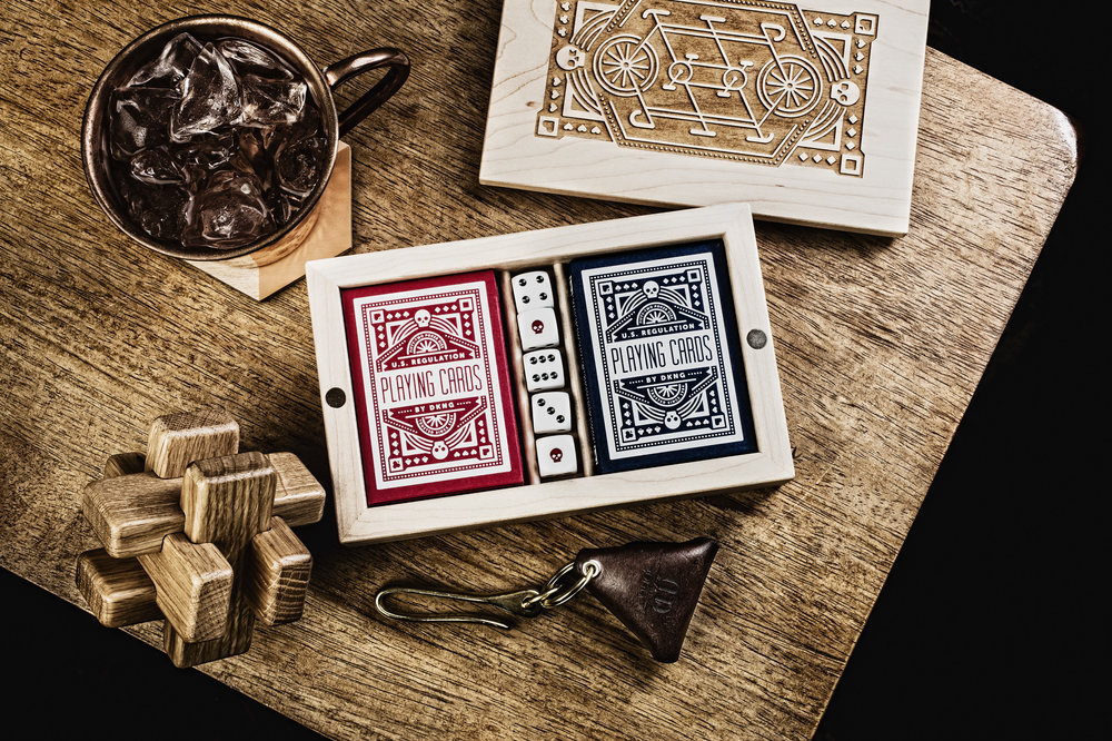 DKNG Gaming Set   Two Decks, 5 Dice, all in one Pretty Package.   LEARN MORE