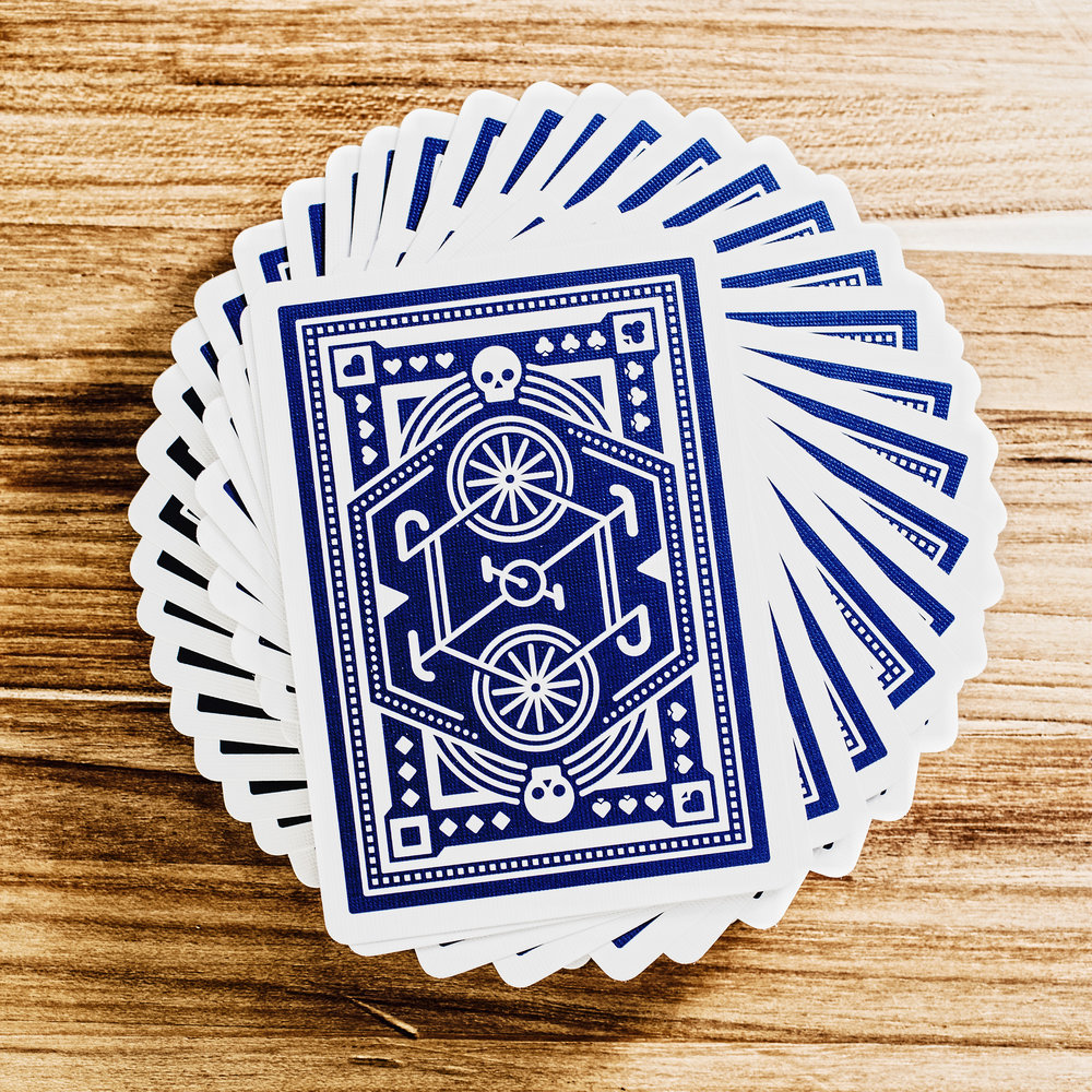 DKNG 'Blue Wheel' Playing Cards
