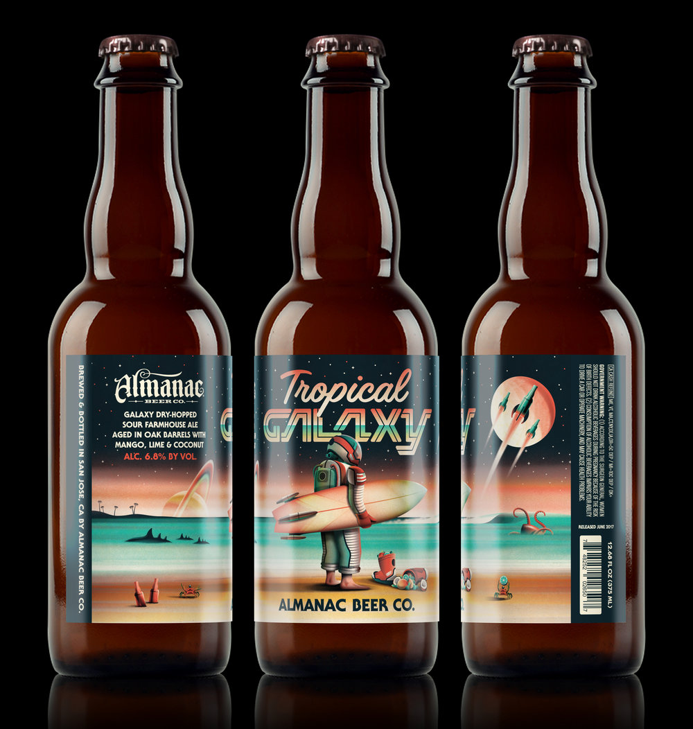 Almanac Beer Co. Tropical Galaxy (Black Background)