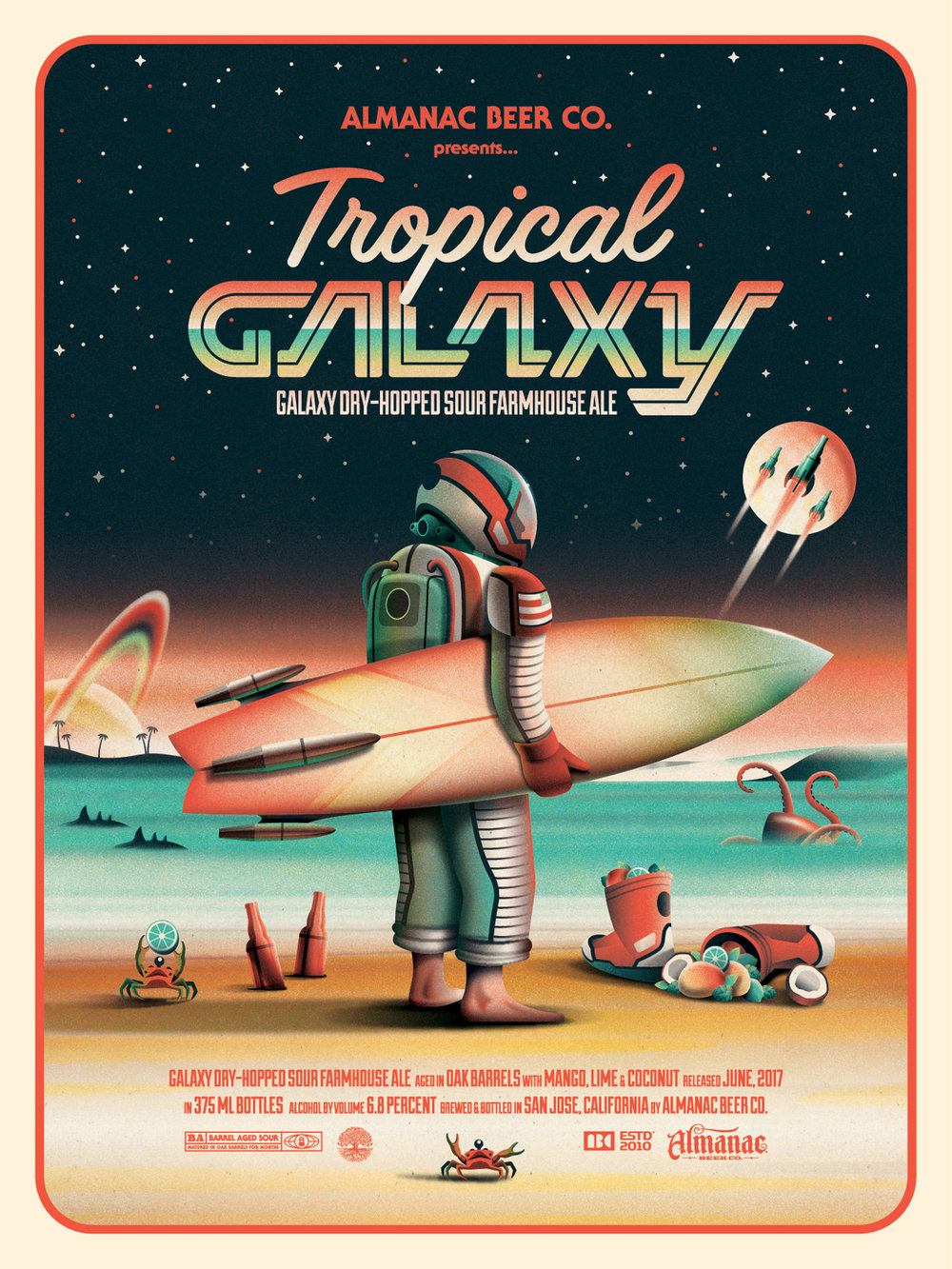 Almanac Beer Co. Tropical Galaxy Poster