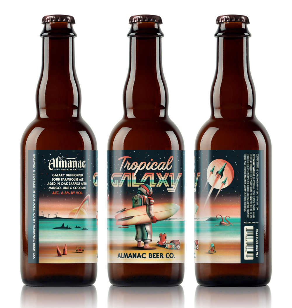 Almanac Beer Co. Tropical Galaxy (White Background)