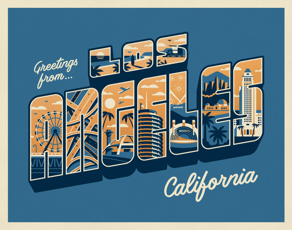 Greetings from Los Angeles by DKNG