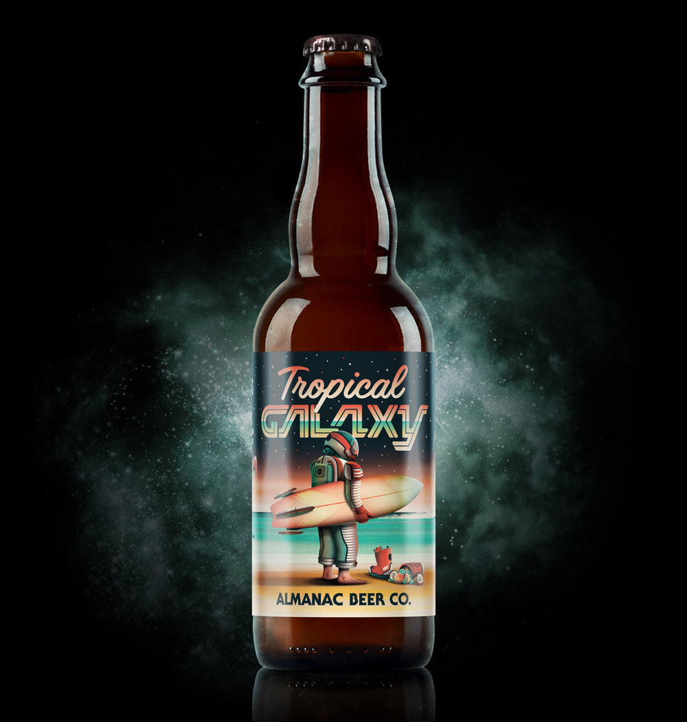 Tropical Galaxy beer label by DKNG