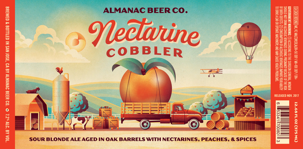 Nectarine Cobbler Beer Label by DKNG