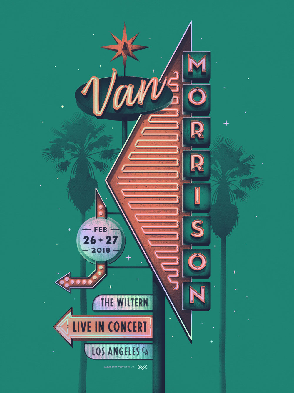 Van Morrison Poster by DKNG
