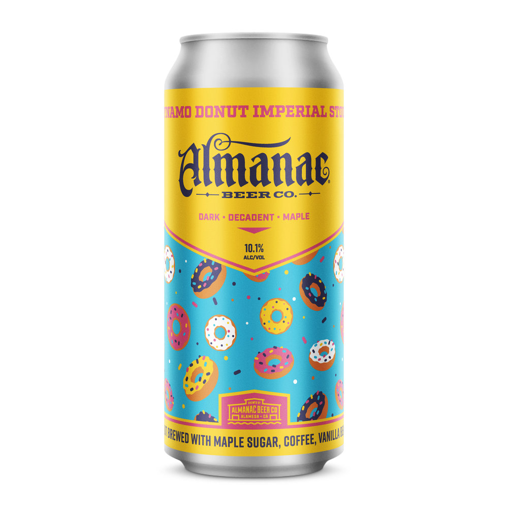 Dynamo Donut Imperial Stout can design by DKNG