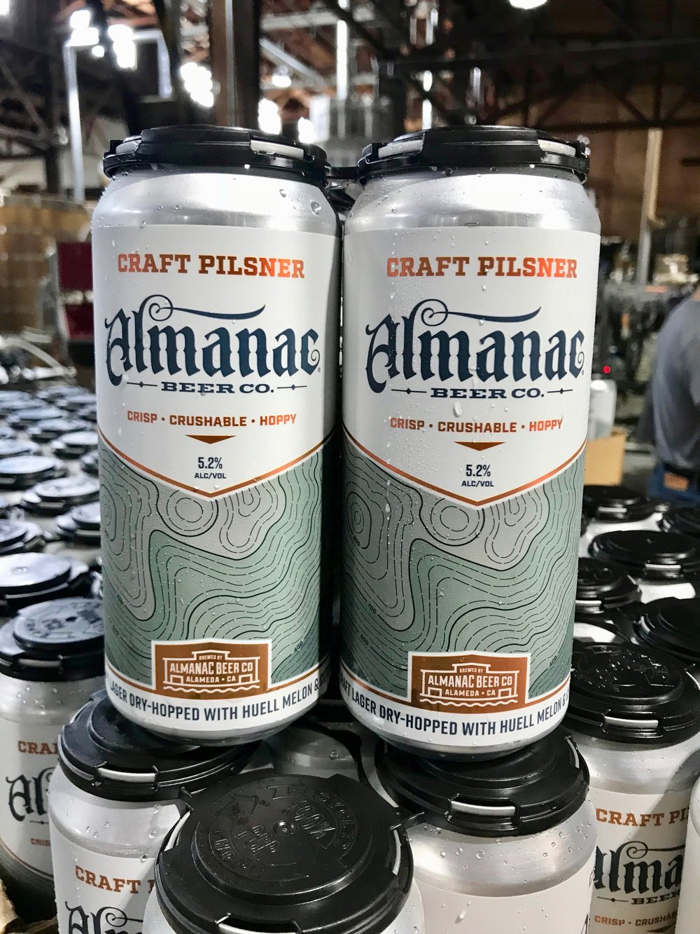Almanac Beer Co. Craft Pilsner can design by DKNG
