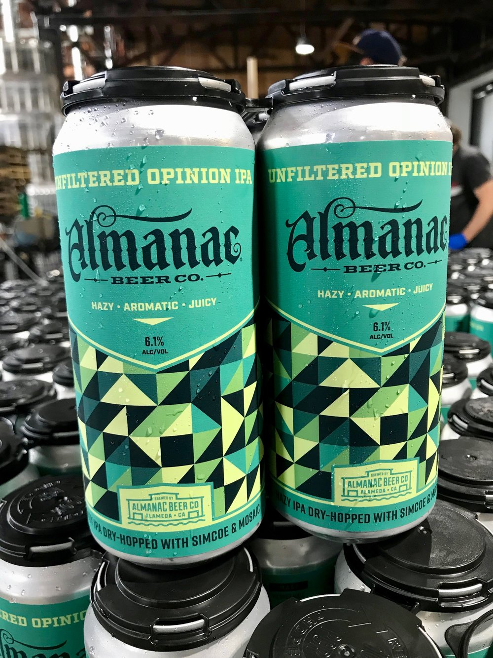 Almanac Beer Co. Unfiltered Opinion IPA can design by DKNG