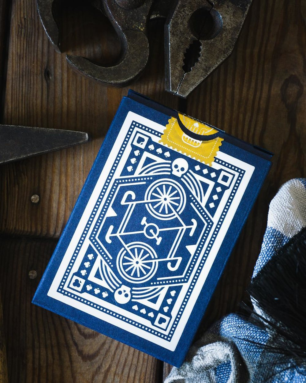 Blue Wheel Playing Cards by DKNG
