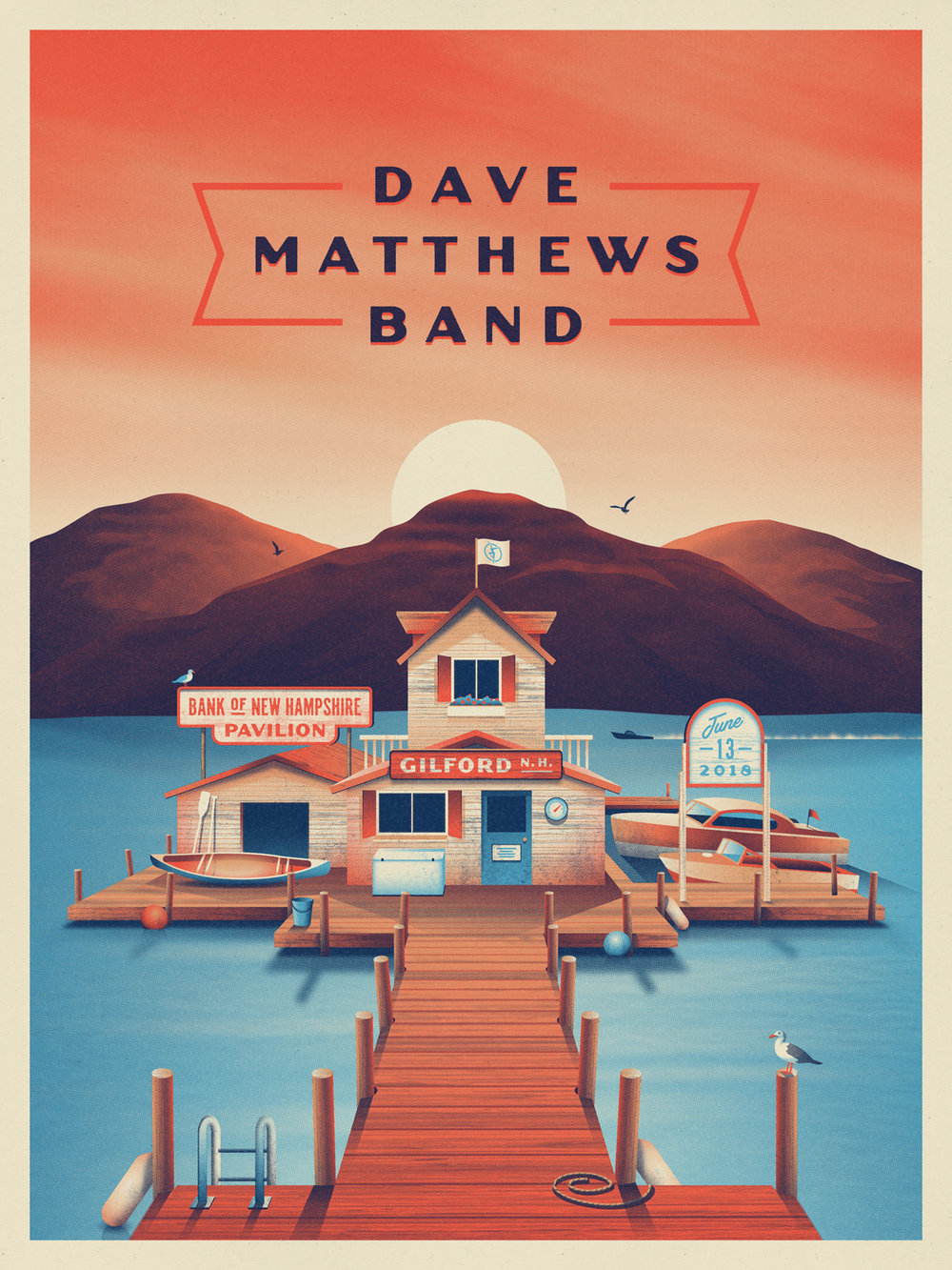 Dave Matthews Band Gilford, NH Poster by DKNG