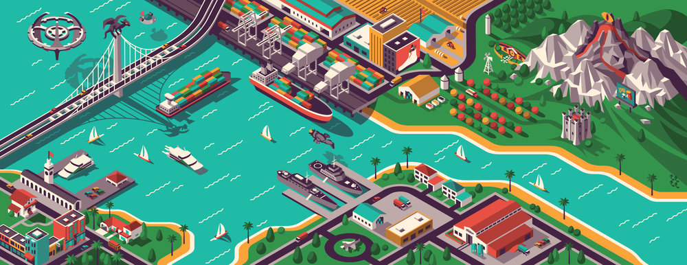 ISOMETRIC ILLUSTRATION   Our newest class on Skillshare is now live!   LEARN MORE