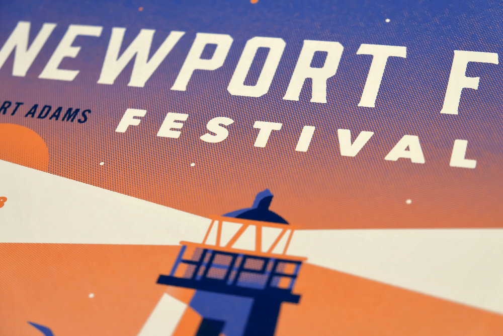 Newport Folk Festival Poster by DKNG