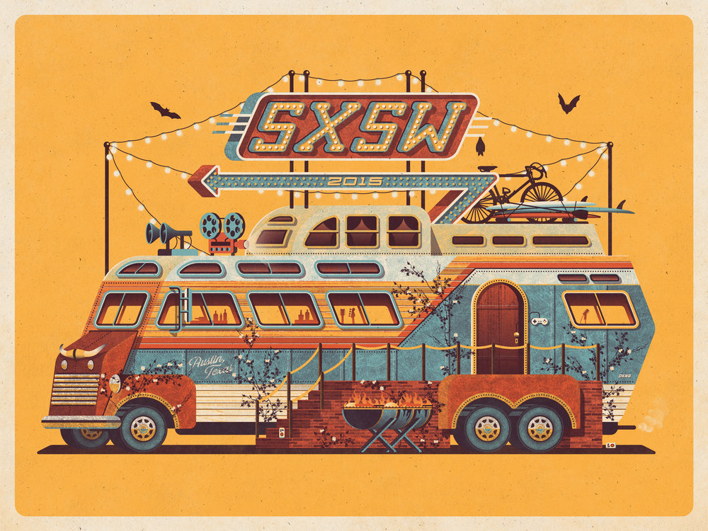 SXSW poster by DKNG