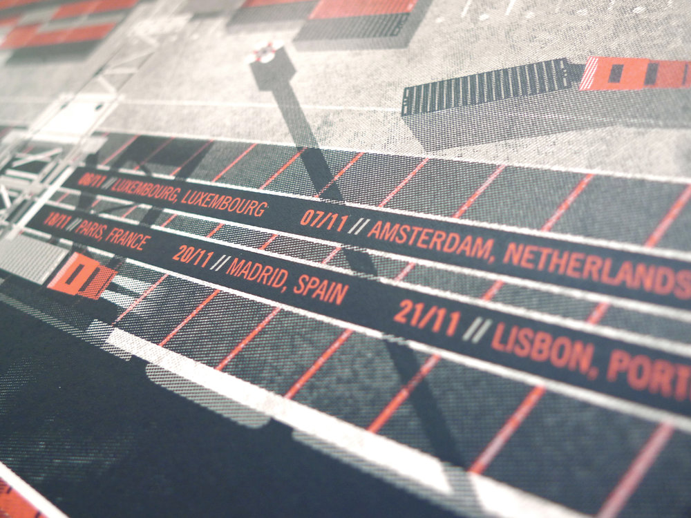 The National // Euro Tour poster by DKNG