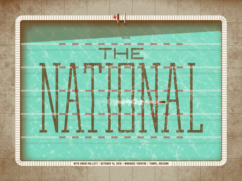 The National // Tempe, AZ // Poster by DKNG