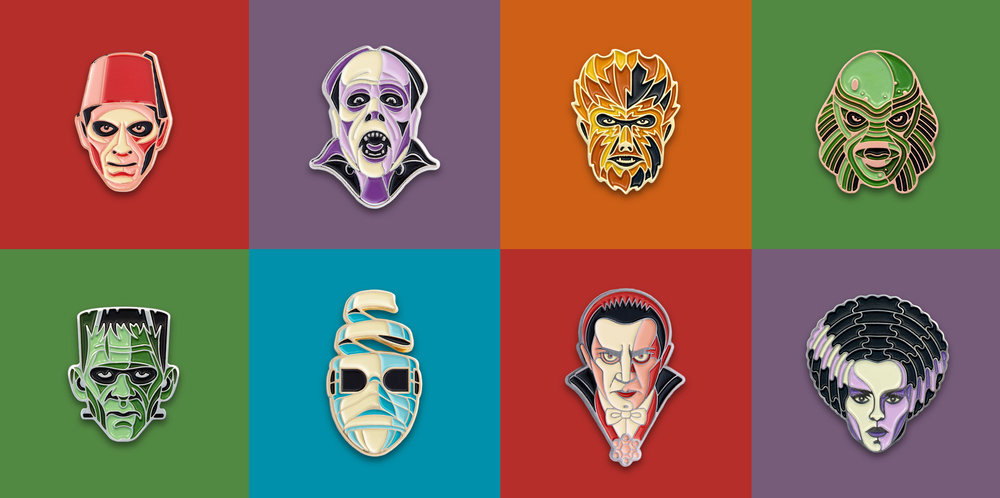 Universal Monster Pins by DKNG