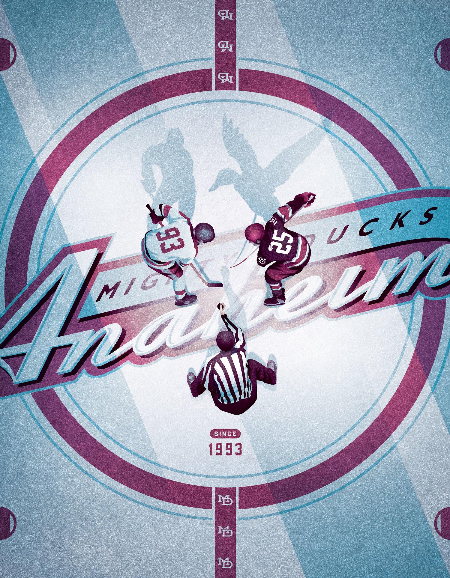 best website e200d 62e3f Mighty Ducks of Anaheim Anniversary Poster — DKNG
