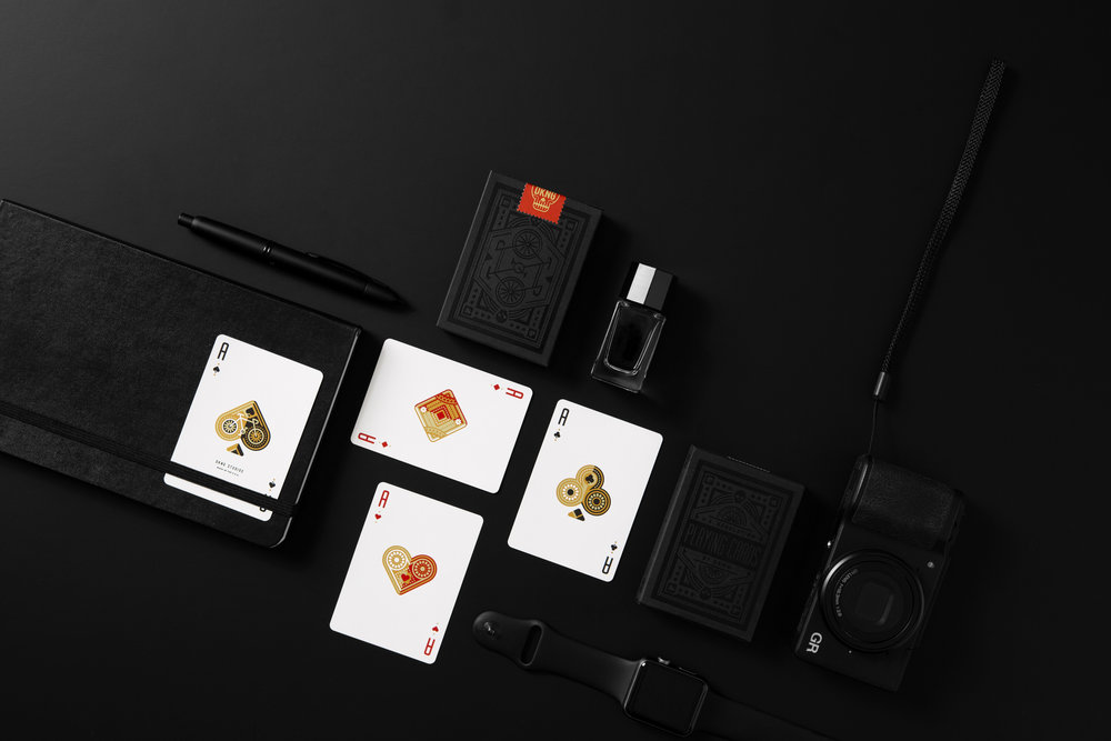 Black Wheel Playing Cards by DKNG