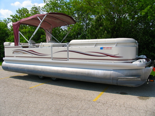 sold 2002 aqua patio 24 pontoon w 40 hp yamaha - Aqua Patio