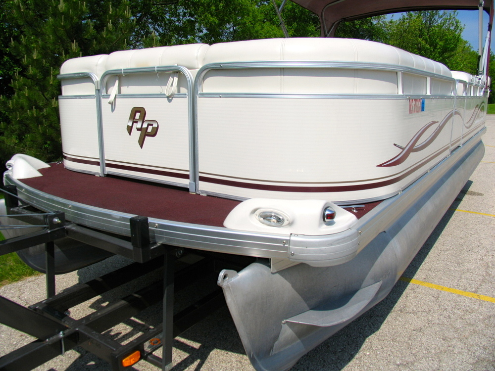 SOLD 2002 Aqua Patio 24u0027 Pontoon W/ 40 Hp Yamaha