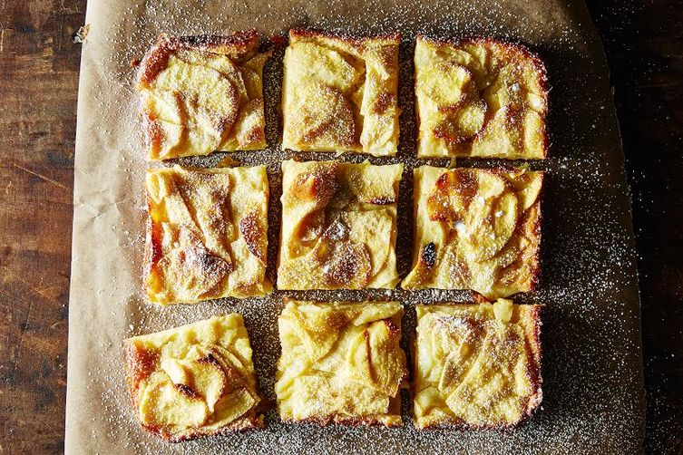 Dorie Greenspan's custardy apple squares on food52.com