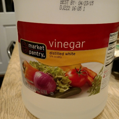 yeah, giant bottle of vinegar, what what!