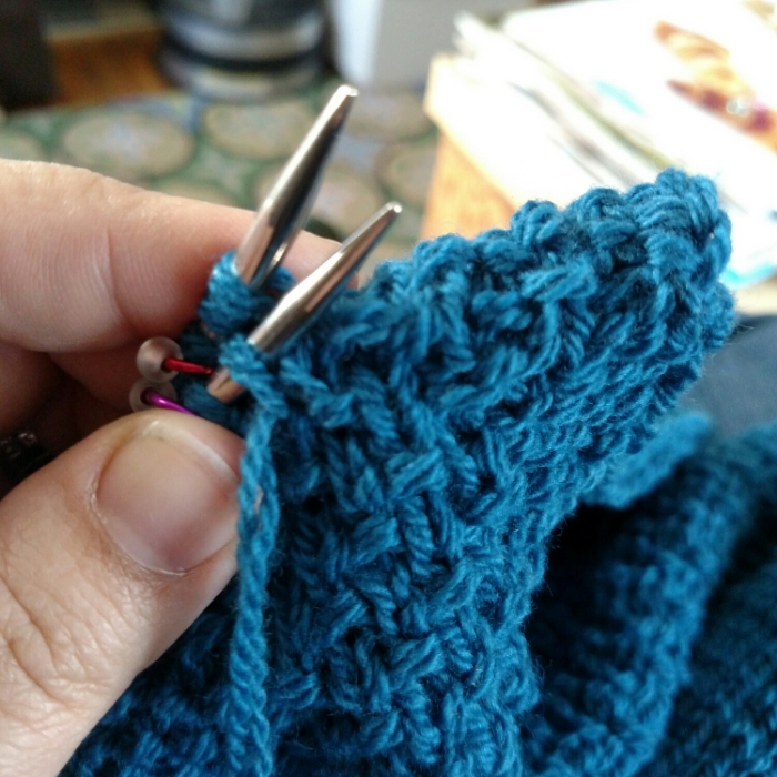 Now, that's some grafting of seed stitch right there!