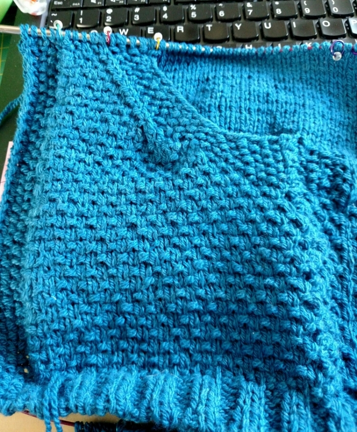 Finished pocket! Smooth sailing from here on out.