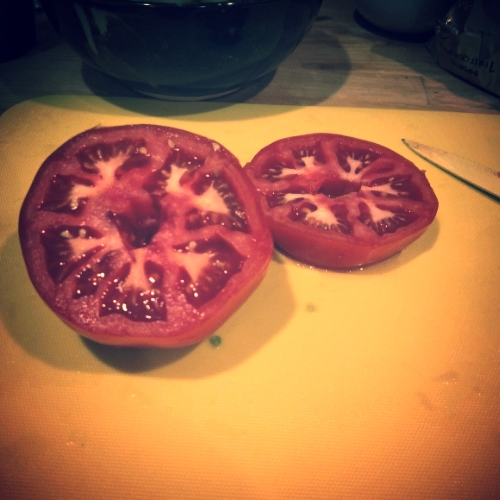 Look at that tomato!