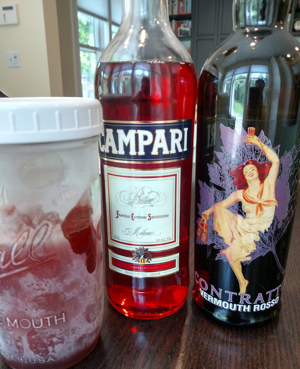 Negronis. In the freezer. Because brilliance. And summer. And cocktails.
