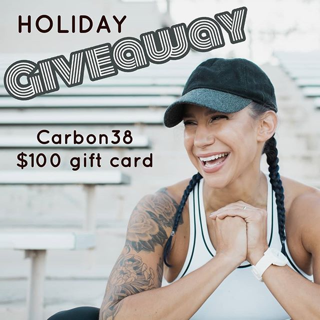 ***GIVEAWAY*** I am giving away a $100 gift card for@Carbon38to one lucky winner! .  There is no time like January to get to commit to some serious fitness goals. AND there is nothing more inspiring than beautiful new workout gear to get that booty of yours into the gym (am I right?). Carbon38.com is where I shop for everything I need for my active lifestyle --- clothes, shoes, bags, waterbottles!  See link in bio for www.Carbon38.com ******************************************** .  This is all you have to do:  1) 'Like' this picture ✅  2) Follow my account@redbankred ✅  3) Tag 3 friends that would LOVE to win some sweet gear too ✅ ******************************************** .  Contest ends Dec 24th at 12am EST. Winner will be drawn at random on a LIVE video. . *This giveaway is in no way sponsored by instagram or Carbon38. It is sponsored by me 😁 .  PC: @christinalilly .  #giveaways #giveaway #contest #giveawaycontest #win #follow #competition #contests #team38 #giveawaytime #free #repost #love #marketing #prizes #socialmediamarketing #contestentry #gift #marketingtips #sportswear #athleticwear #yoga #training #femaleathletes#promotion #fashion #contestalert #mytrainerrocks