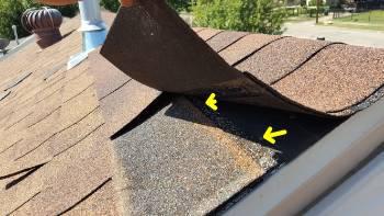 Poor roof installation