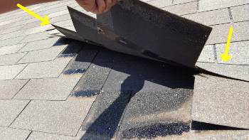 Roof inspection: here is an example to why it is important to have your roof inspected prior to purchasing your house. during the inspection we found that the wrong type of fasteners had been used to install the shingles, some were loose and lift easily .