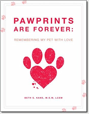 Pawprints Are Forever: Remembering My Pet With Love is a journal that allows you to lovingly record your precious memories of your pet through thought-provoking entries, photographs, and a special keepsake sleeve for tags, fur, pieces of a special blanket or other items. This journal walks you through those moments from when you first saw your pet all the way through to remembering the legacy of love your pet has left and provides a remembrance that you can share and treasure. -